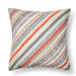 NWT Room Essentials Diagonal Stripes Throw Pillow